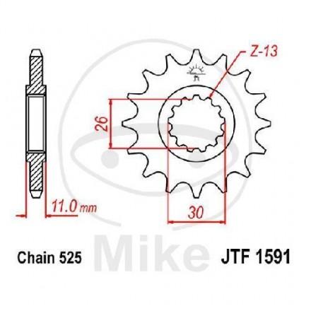 JT Sprockets JT Piñones jtf1591.15,FZ8,MT07,MT09,MT10