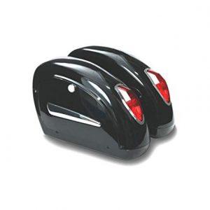 Alforjas rigidas para moto custom de 20 litros de capacidad.