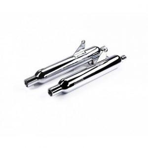 Silenciadores de acero inoxidable cromado de fácil montaje - Homologados E