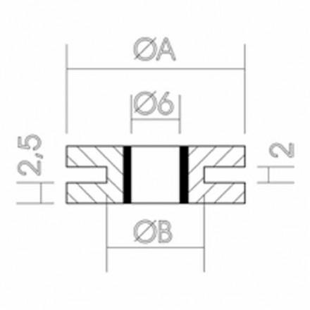 SILENBLOCK GOMA DIAMETRO 12MM (25 UND)